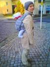 Tragetuch für Neugeborene - mein Didymos-Tuch